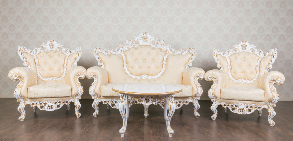 Найрозкішніший комплект м'яких меблів у стилі Бароко