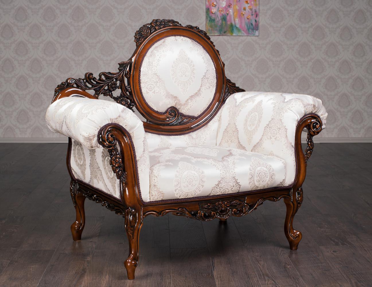 """Мягкое резное кресло в стиле Барокко """"Софа"""" на заказ"""