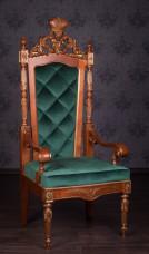 Кресло Трон №4 в стиле Барокко Белое, В наличии
