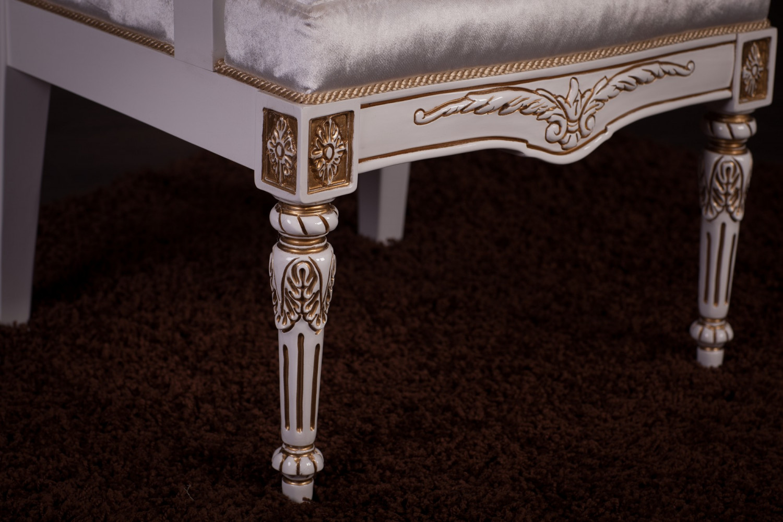 Купить кресло Трон в стиле Барокко белое, В наличии