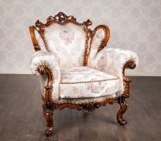 """М'яке крісло в стилі бароко """"Белла"""" на замовлення"""
