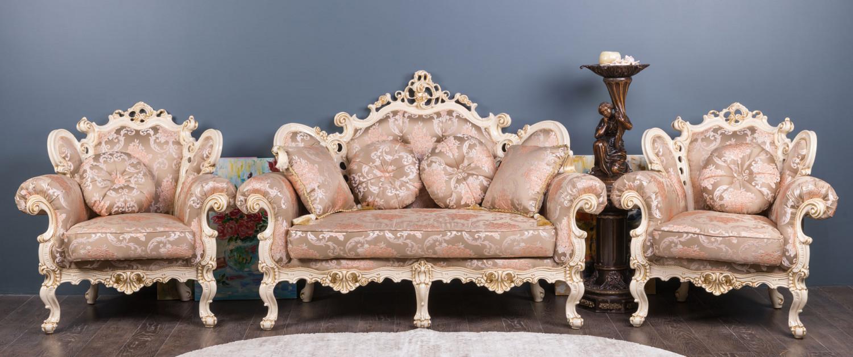 "Комплект мебели в стиле Барокко ""Белла 2-1-1"", на заказ"