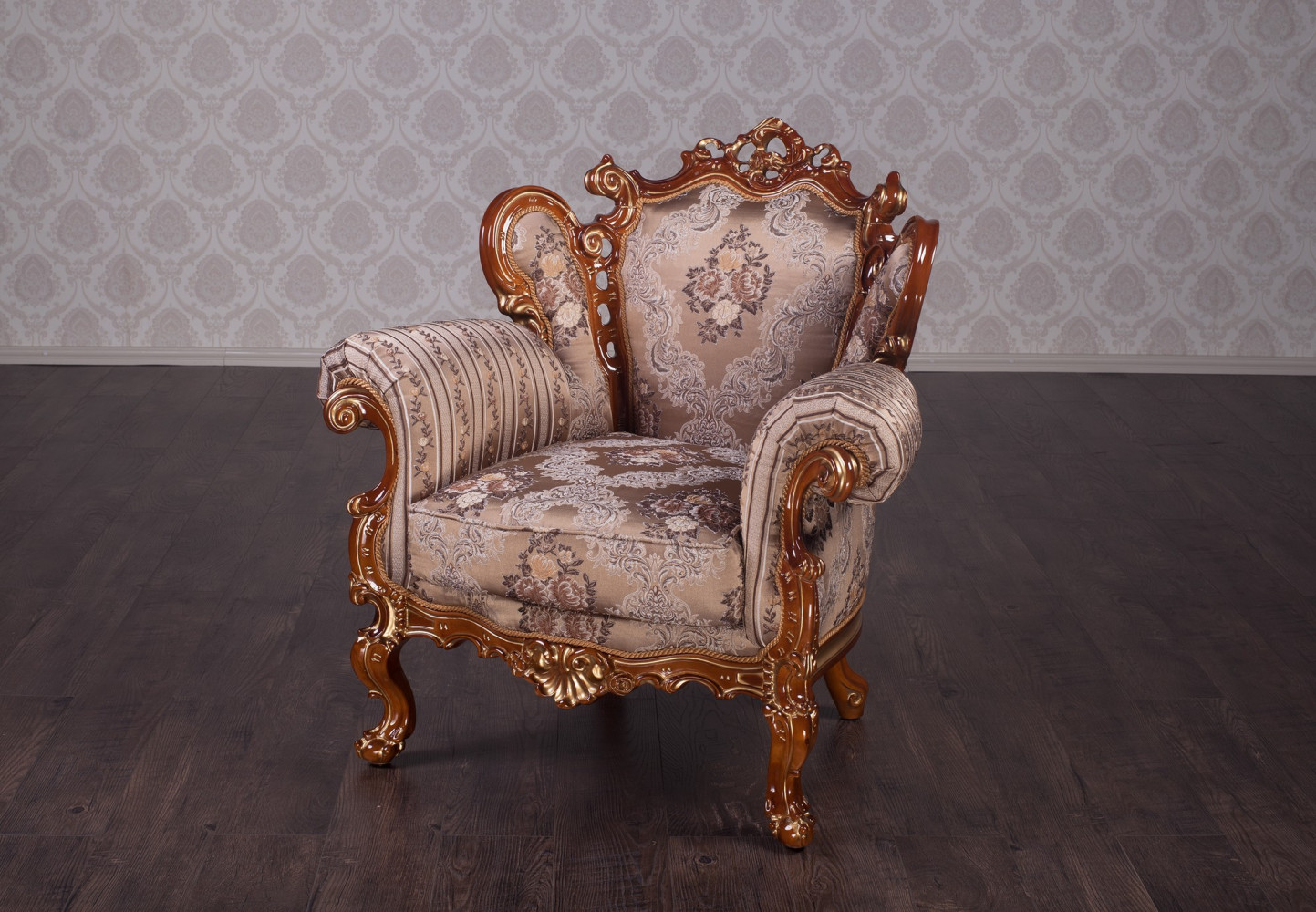 """Купить мягкое кресло в стиле Барокко """"Белла"""" на заказ"""