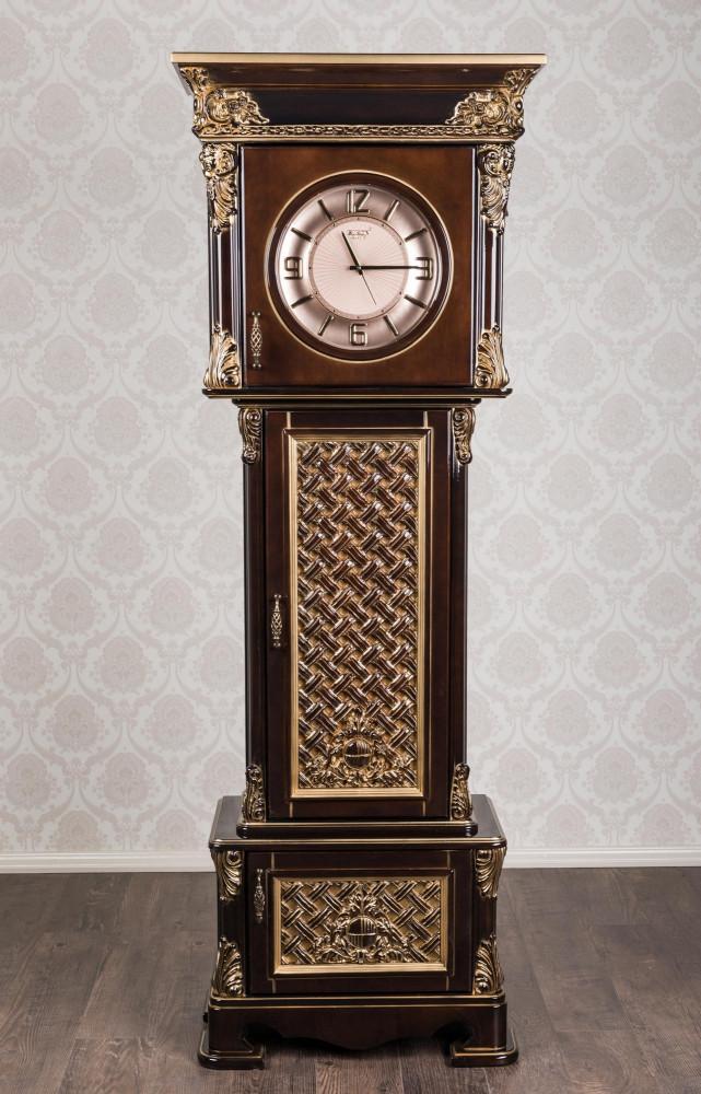 """Антикварний підлоговий годинник """"Генріх"""" з дерева"""