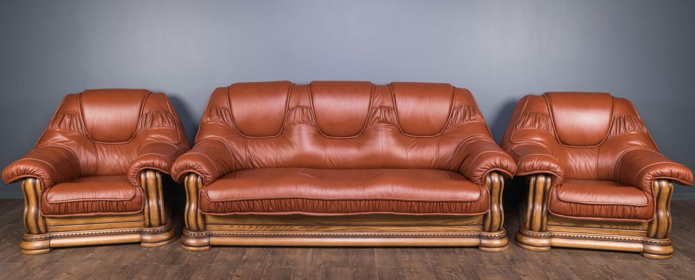 """Комплект мягкой мебели """"Гризли"""", диван и два кресла на заказ"""