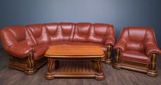 Комплект м'яких меблів з кутовим диваном, в наявності