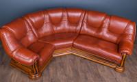 """Шкіряний кутовий диван """"Грізлі"""", в наявності"""