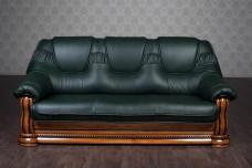 """Кожаный диван """"Гризли"""" на заказ, 230 см."""
