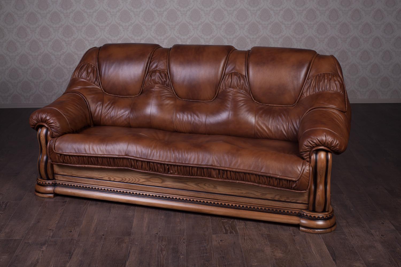"""Купить Кожаный диван """"Гризли"""" на заказ, 230 см."""