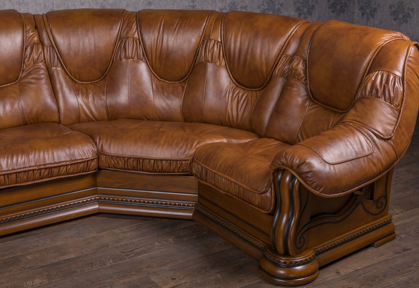 """Классический П образный диван """"Гризли"""", на заказ"""