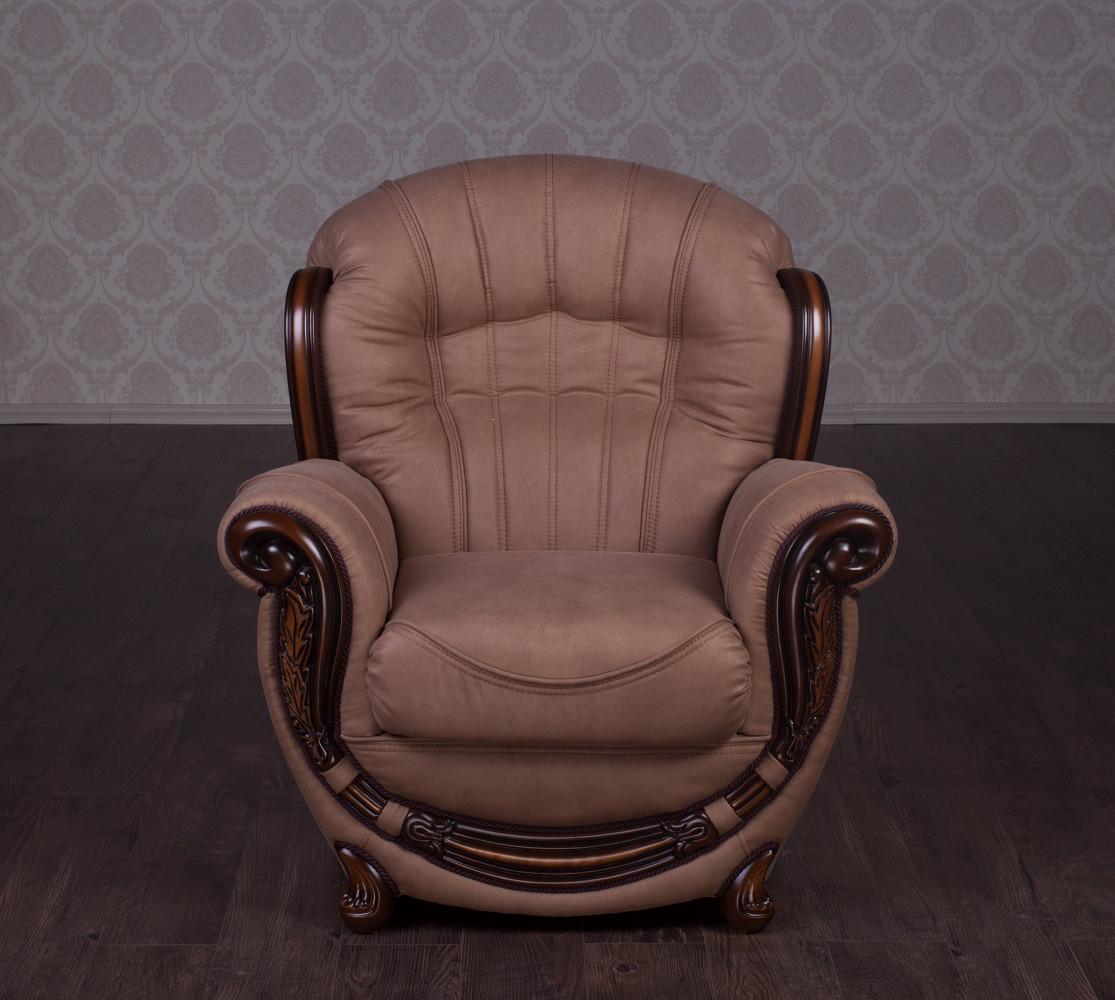 """Купити комплект м'яких меблів """"Джове"""", 3-1-1, диван і два крісла В наявності (Антарес Лайт Браун)"""