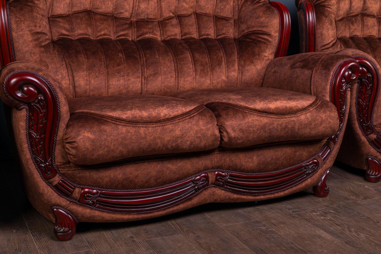 """Прямой двухместный диван в классическом стиле """"Джове"""", под заказ"""