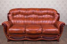 """Кожаный трехместный диван """"Джове"""", в наличии"""
