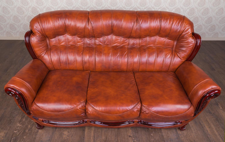 """Шкіряний тримісний диван """"Джове"""", в наявності"""