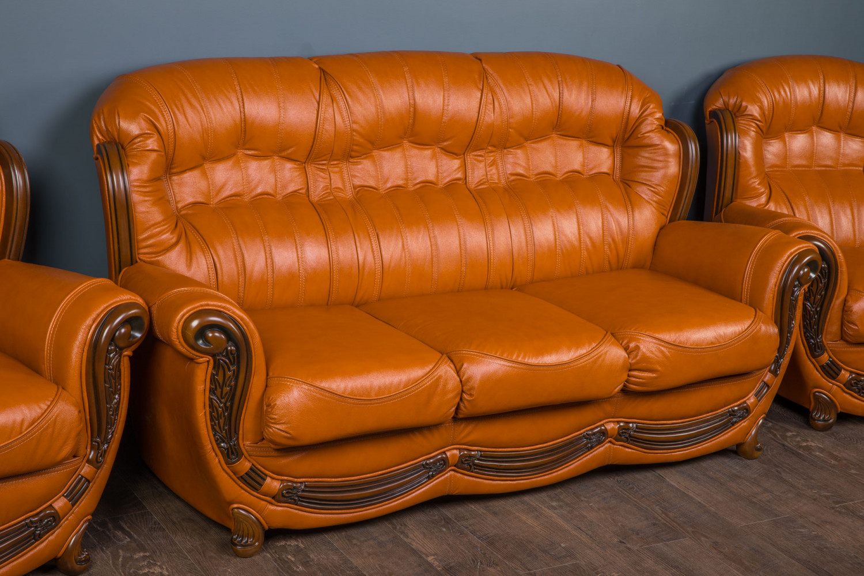 """Классический кожаный диван """"Джове"""", на заказ"""