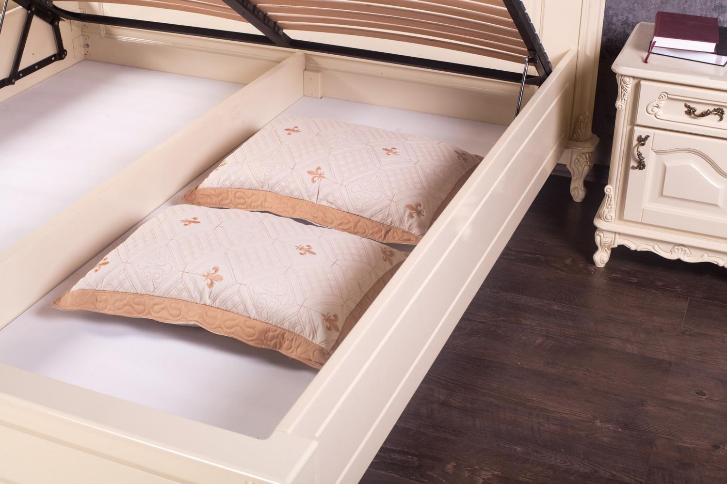 Дерев'яне ліжко з підйомним механізмом на замовлення
