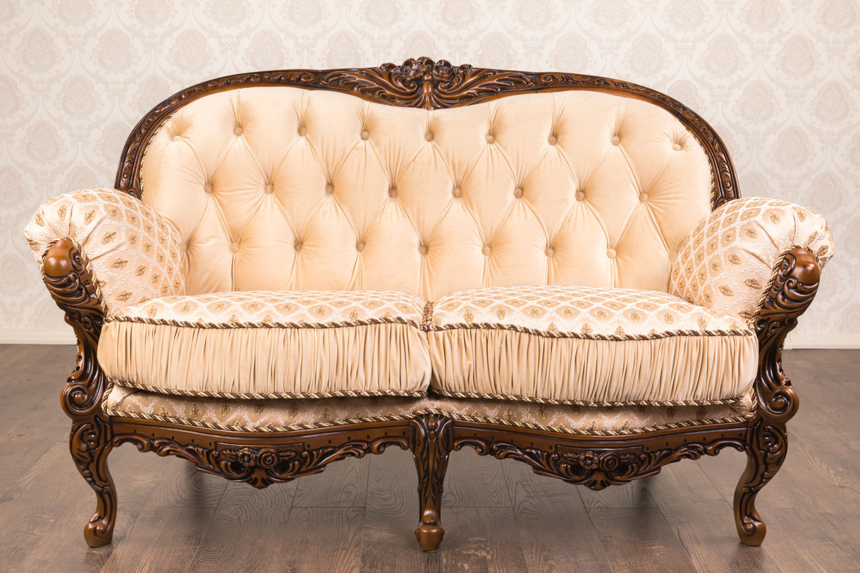 """Купить прямой Двухместный диван """"Ника"""" в стиле Рококо"""