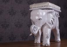 Пуф Слон, белый, в наличии