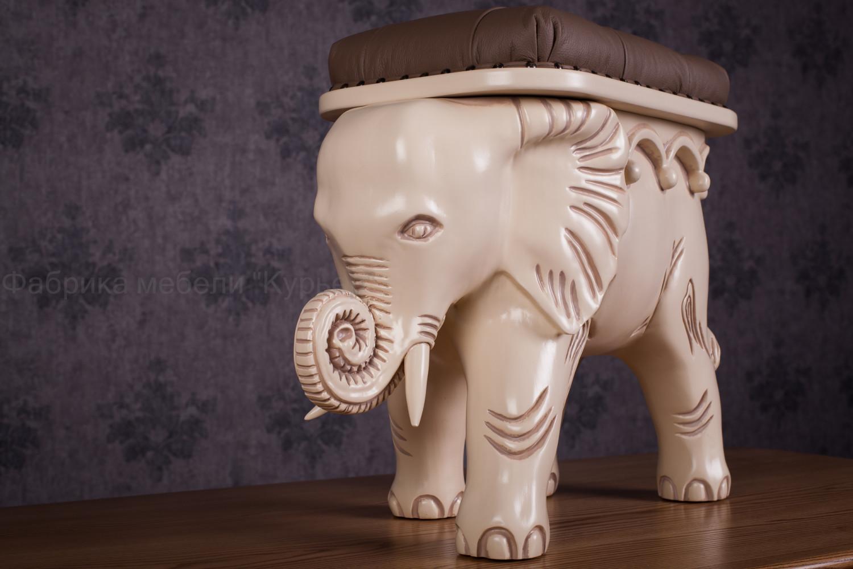 Деревянный пуф Слон В наличии
