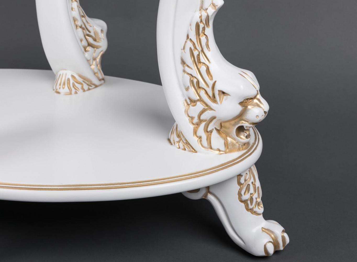 Овальний журнальний столик зі скляною стільницею