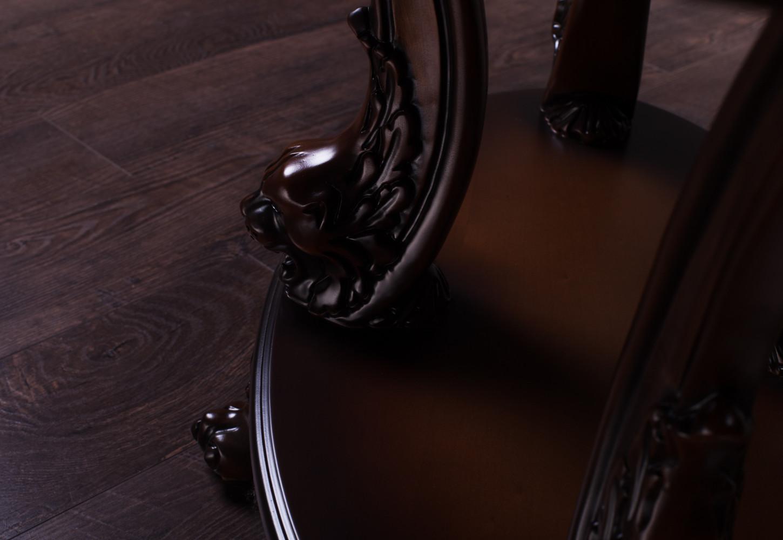 Овальный журнальный столик №12 из натурального дерева, на заказ